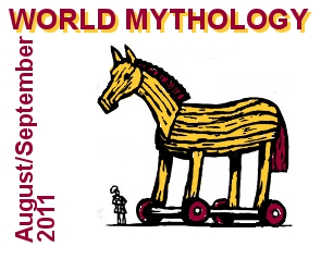 World Mythology with picture of Trojan Horse