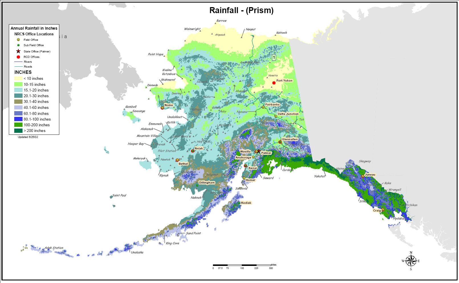 Alaska Rainfall map