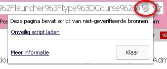 Kies in Chrome voor 'onveilig script laden'