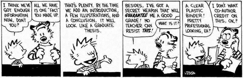 Cartoon over schrijven