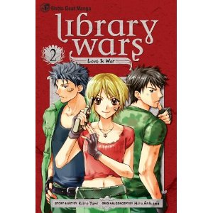Cover of manga series, Library Wars