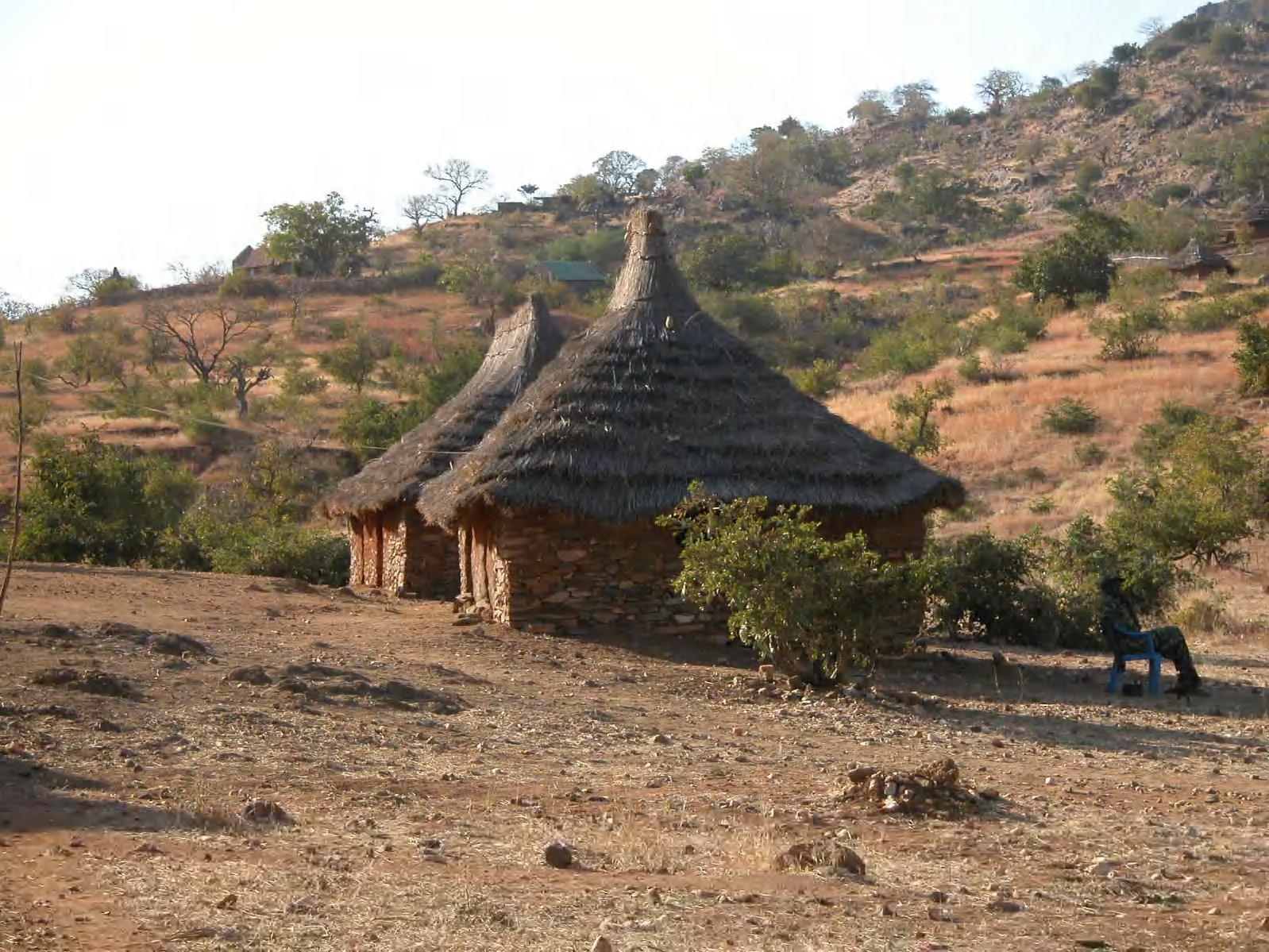 View of the Nuba Mountains near Kauda and Kwere, Southern Kordofan province, Sudan