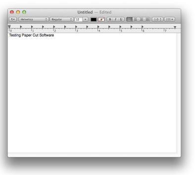 screenshot of an open document
