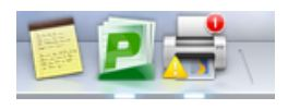 screenshot of printing icon in the program dock