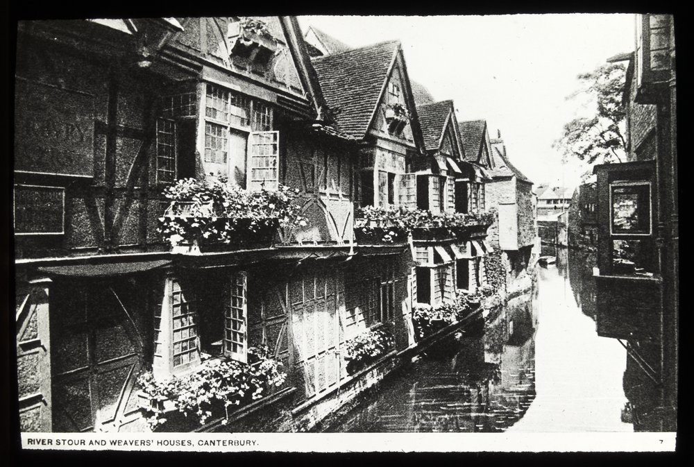 River Stour and weaver's cottages, Canterbury [England],