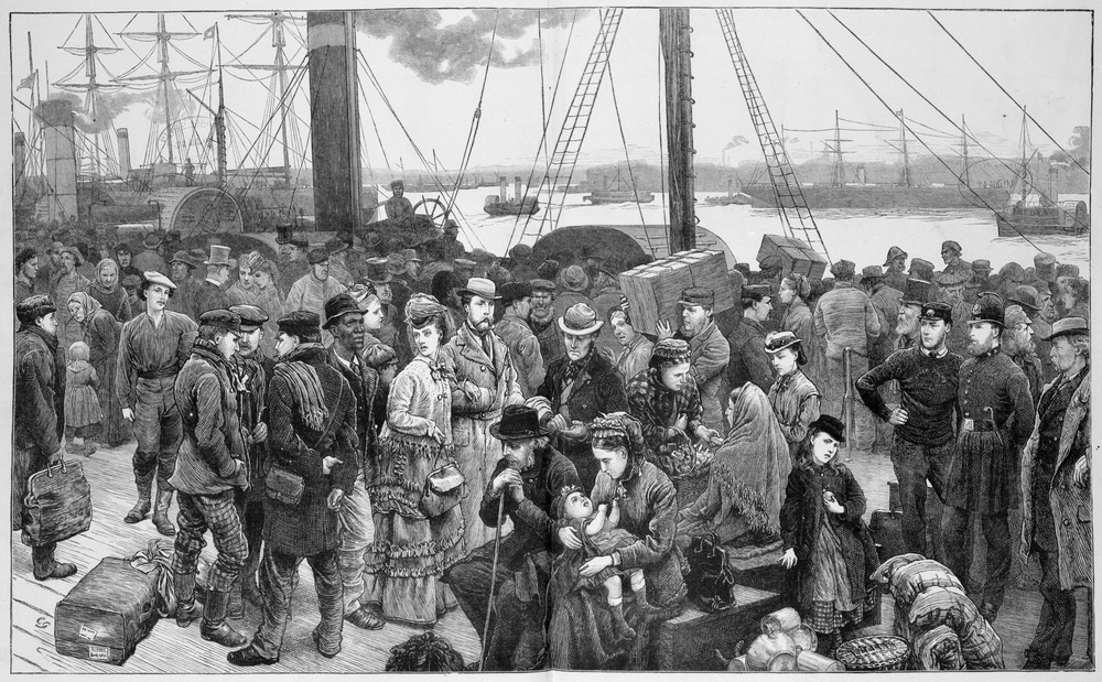 Emigrants embarking [from Great Britain]