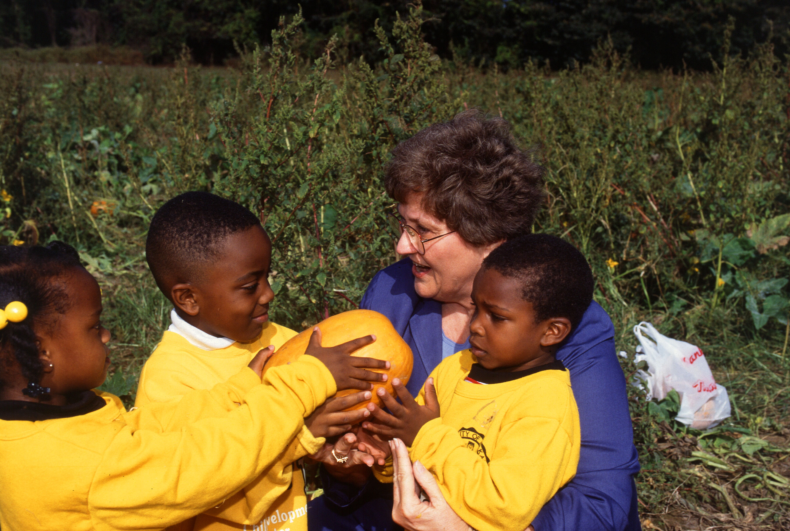 Children learning about agriculture