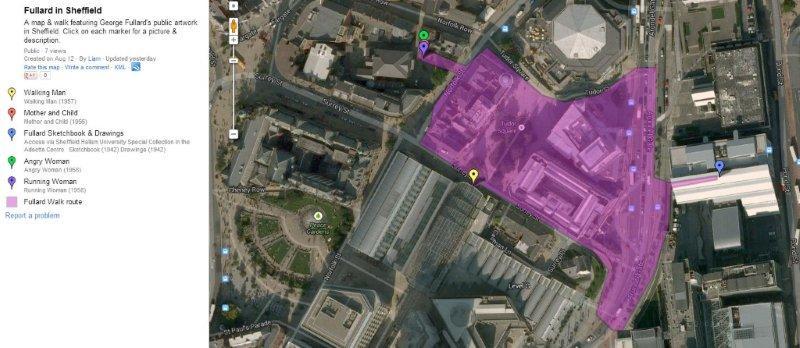 Map of Fullard locations in Sheffield