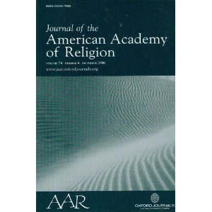 Cover of American Academy of Religion journal