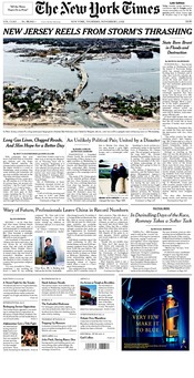 image of New York Times front page