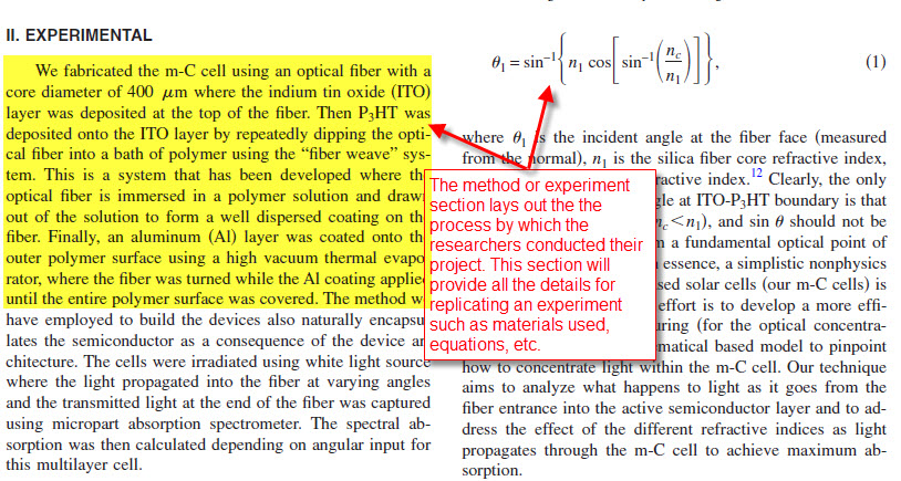 image of the article text, showing the methods and experiments section. Text from image appears in list before this image.