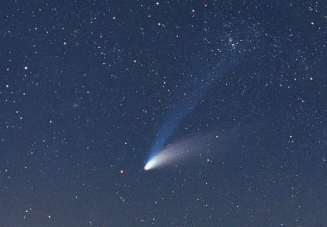 Image of a shooting star