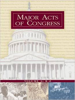 Major Acts of Congress Book