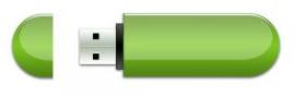 Green USB drive