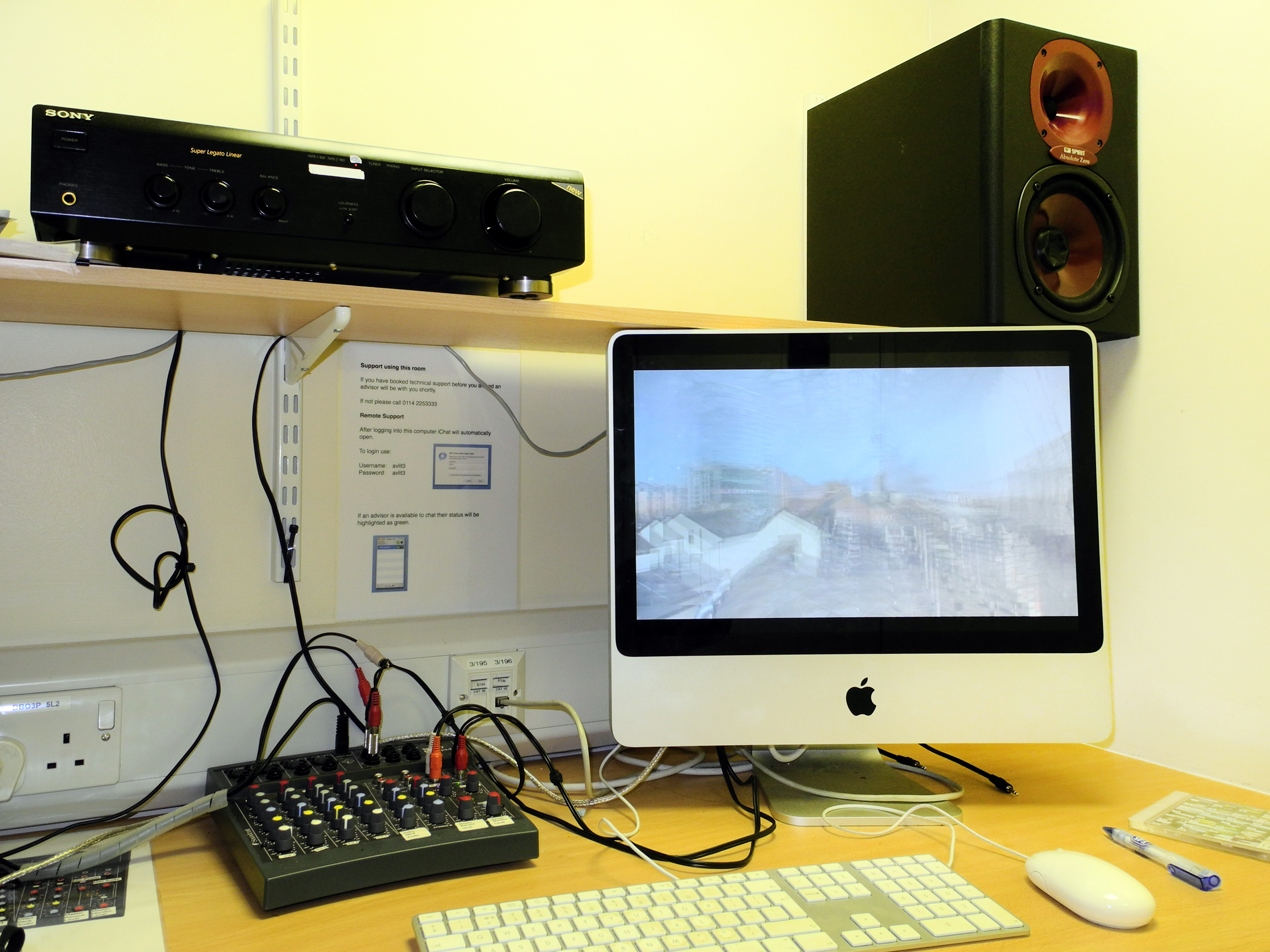 Image showing section of an edit suite in the Owen Building. Photo © SHU.