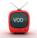 Image of TV set with VOD written on screen.  © SHU.