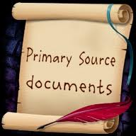 Scroll with Primary Source Documents written on it
