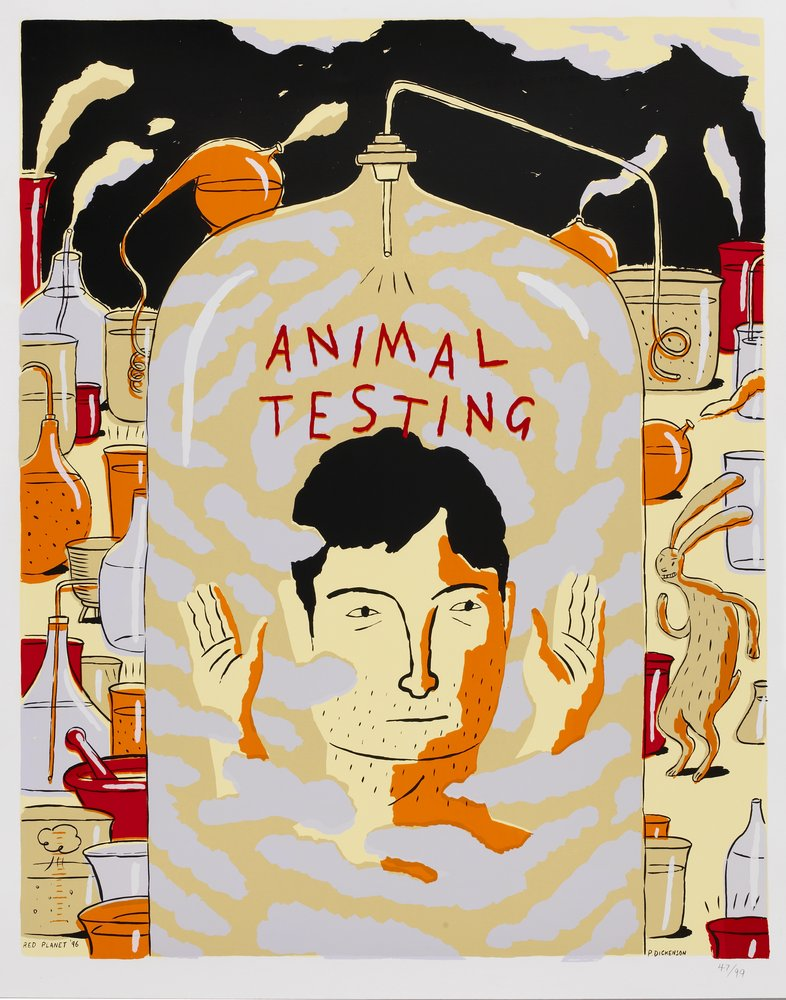 Animal testing. Copyright RedPlanet Poster Collection