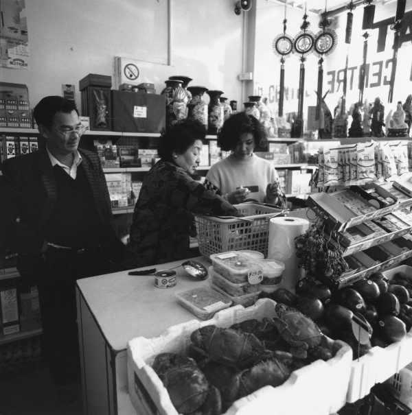In the Asian Food Market, Victoria St., Richmond. July 1988. Building a country archive
