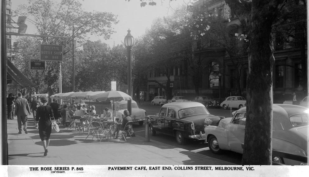 Pavement Cafe, East End, Collins St, Melbourne, Victoria