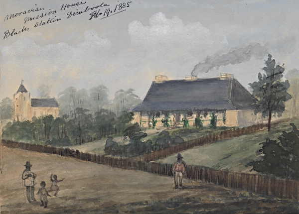 Moravian Mission House Blacks Station, Dimboola Feb 19, 85. S. H. Roberts