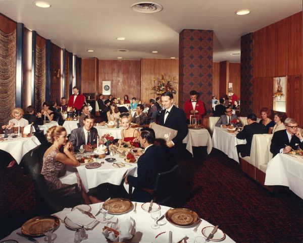 Interior, Restaurant, Savoy Plaza Hotel, 122-32 Spencer Street, Melbourne. Mark Strizic