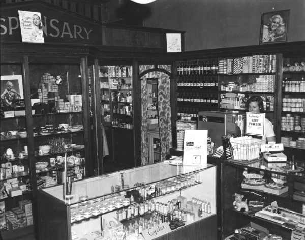 Interior Keogh's pharmacy, Tallangatta. State Rivers and Water Supply Commission