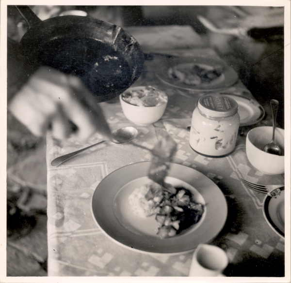 The indomitable Twid serves a meal. Edna Walling Collection