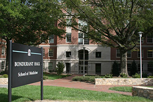 Bondurant Hall, School of Medicine photo by Robert Ladd