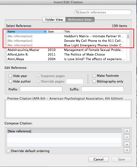 Poorly imported citation using Write-N-Cite on a Mac