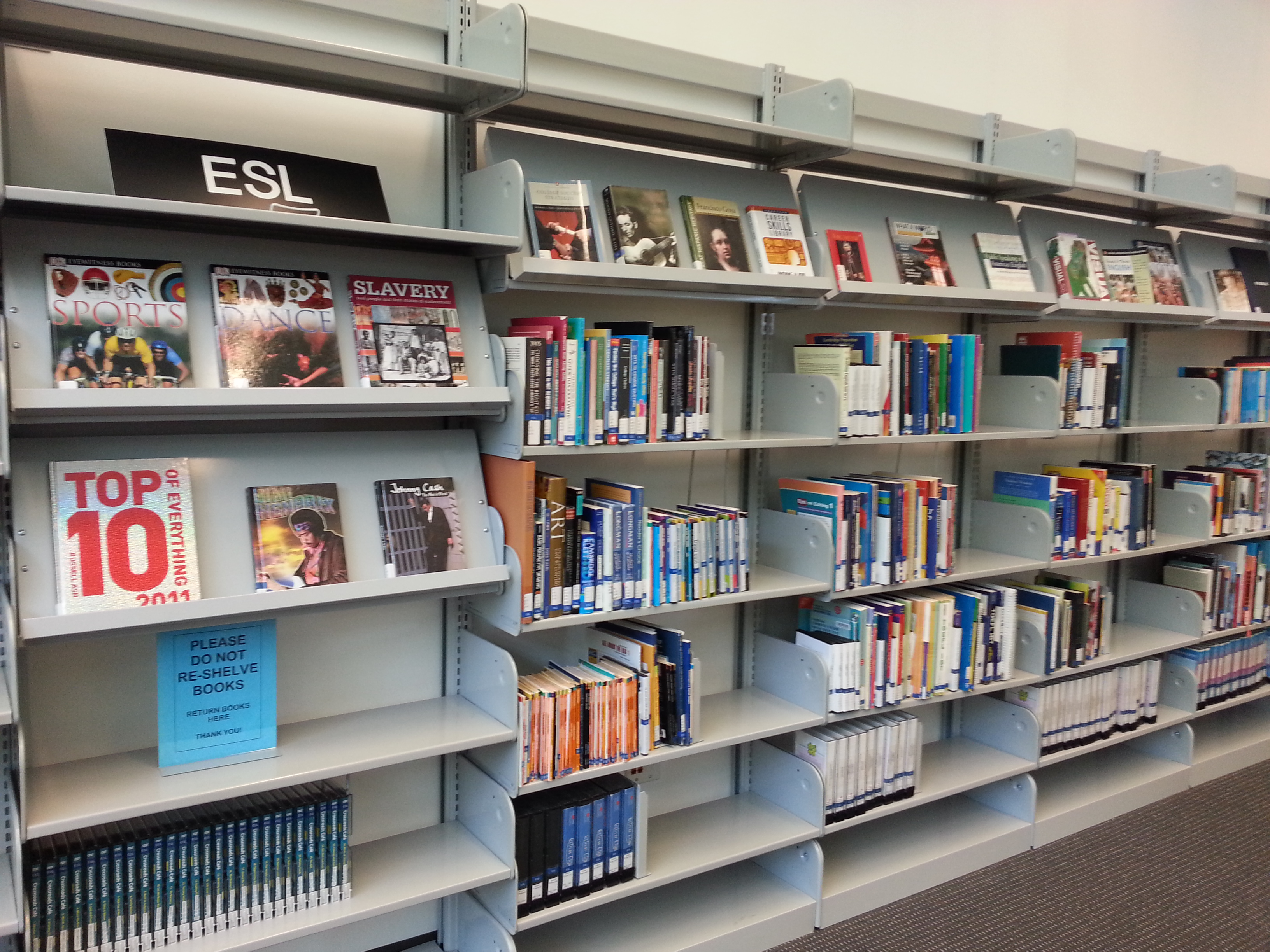 ESL collection in Campus Library