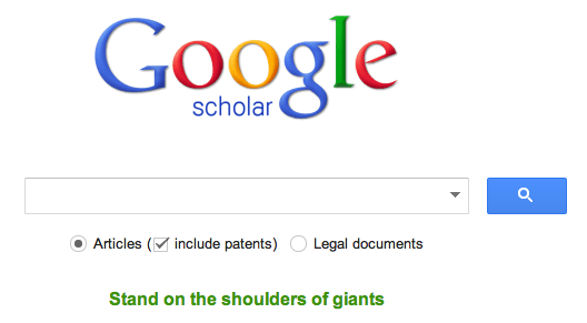 Google Scholar Basic Search
