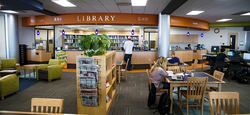 Image: photo of Truax library service desk