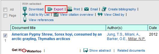 Scopus Export