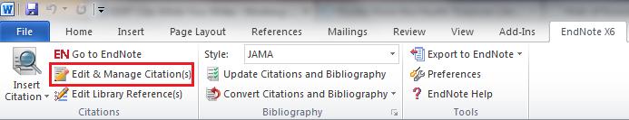 Edit & Manage Citations