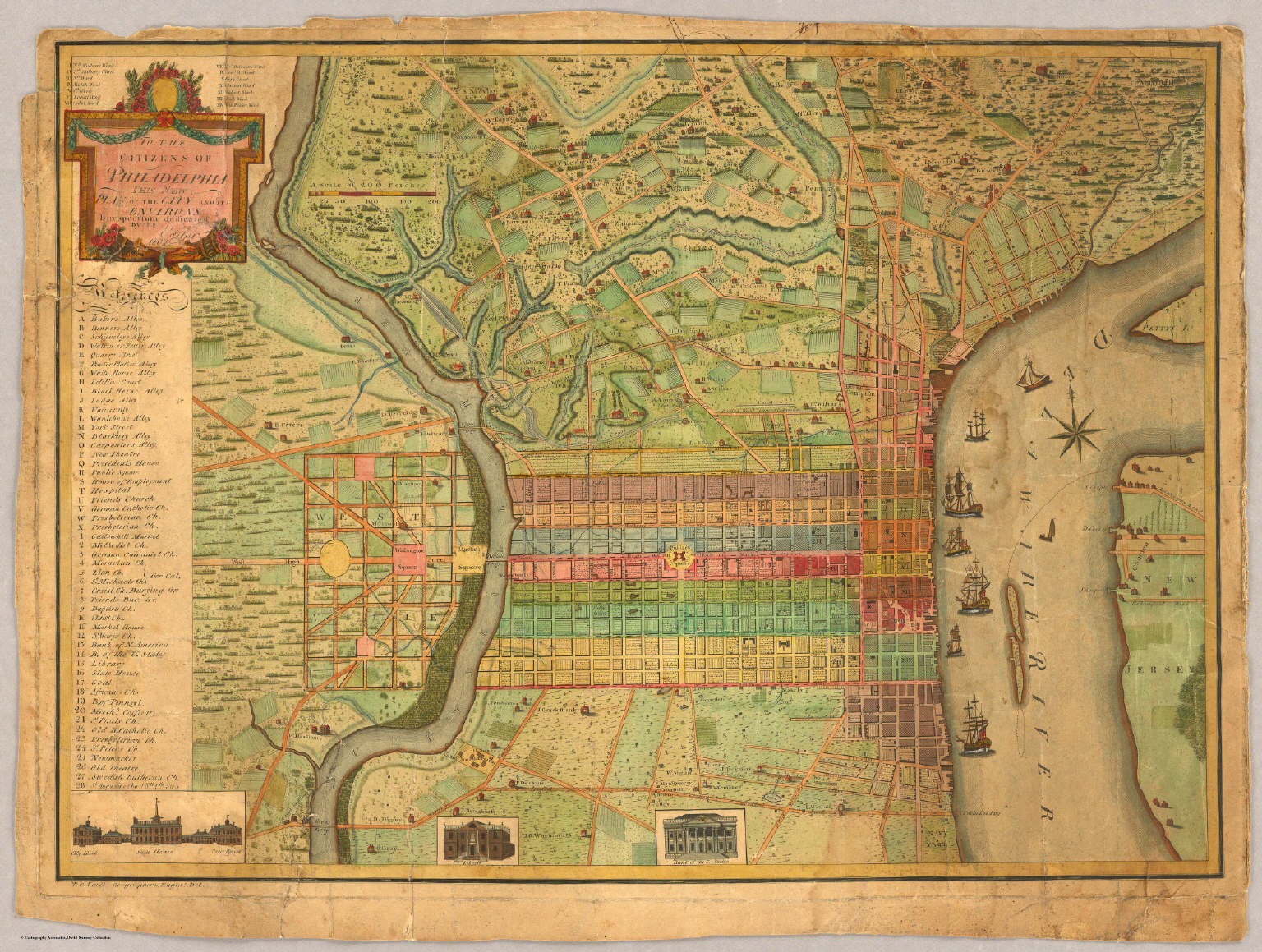 Philadelphia (1802). Map from the David Rumsey Collection