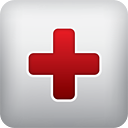 Red cross icon.