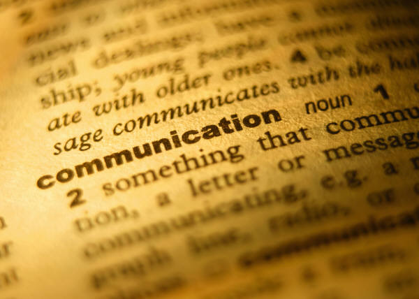 dictionary image of the definition of communication