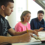 Students studying in the MCC Library