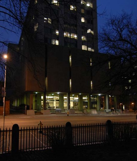 OISE Building at Night
