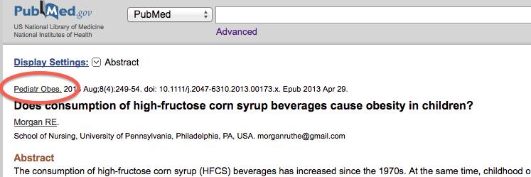 PubMed screen grab
