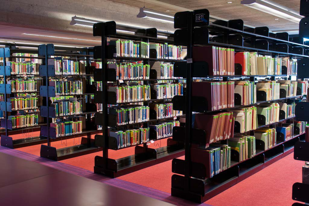 Picture of book stacks on the fifth floor