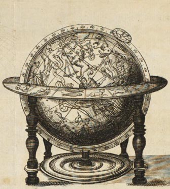 engraving of globe