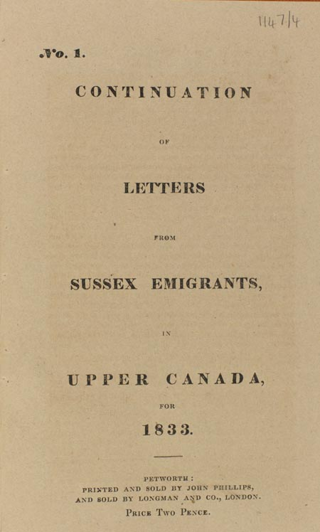 title page of pamphlet