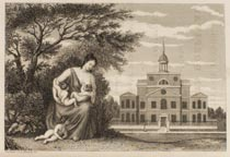 engraving of hospital
