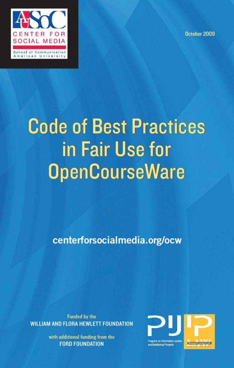 Code of Best Practice for OCW