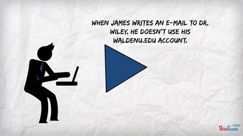 Video player image: Link to video on email etiquette