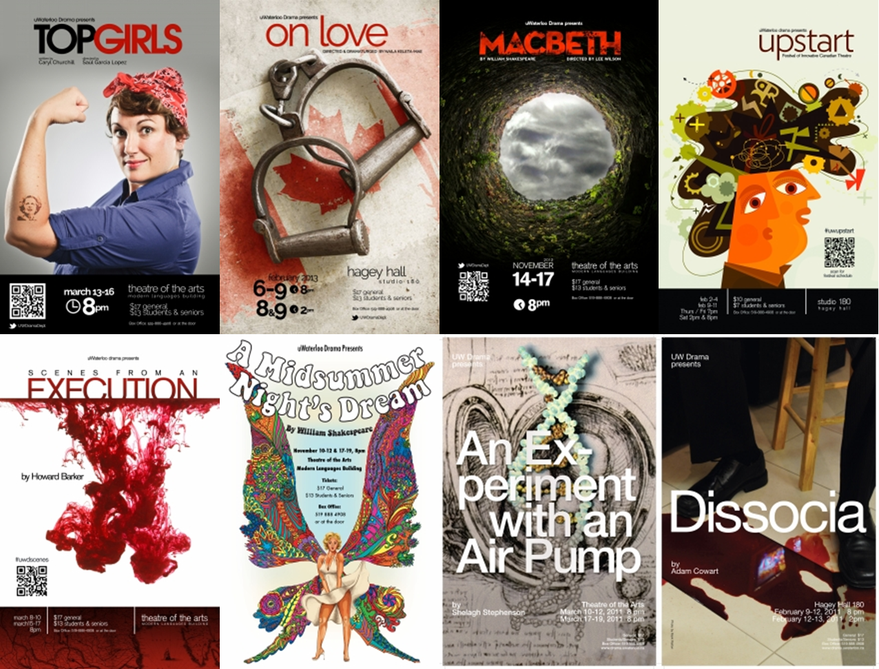 series of play posters from 2011 - 2013