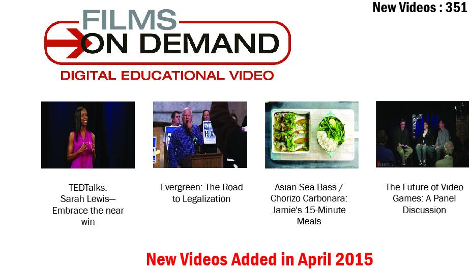 Film on Demand April Edition