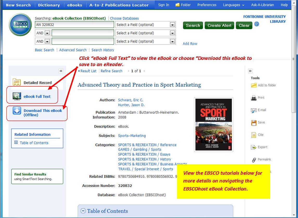 screenshot of online resource